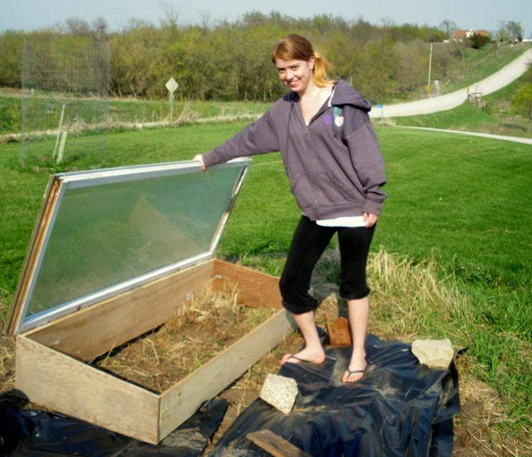 22. Cold Frame From Recycled Materials