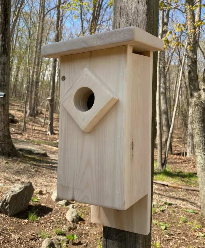 22. DIY Bluebird House For Garden