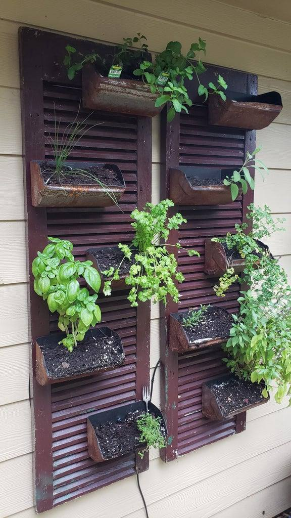 22. DIY Wall Mount Herb Garden