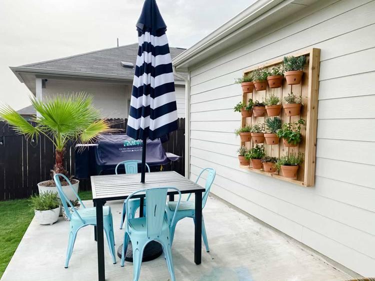 23. DIY Vertical Herb Garden