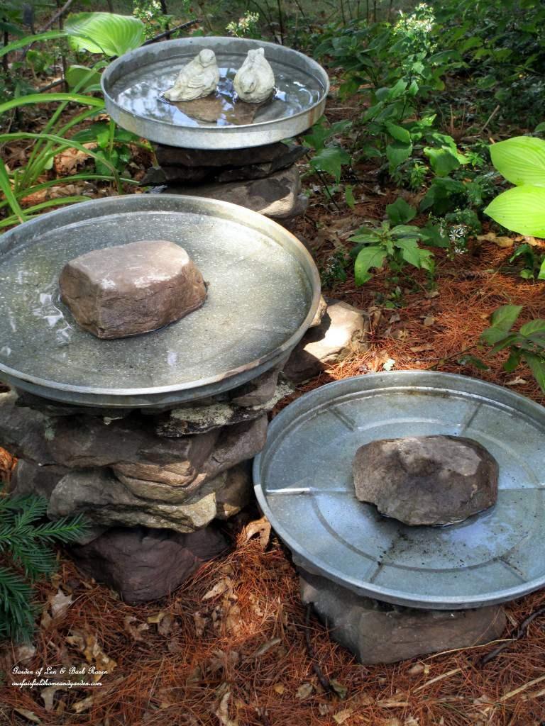 24. DIY Stacked Stone Bird Bath
