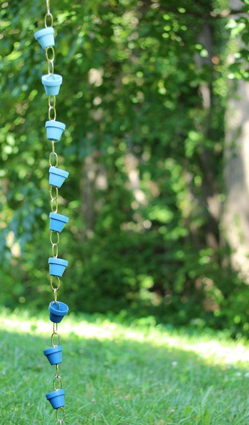 5. DIY Ombre Rain Chain