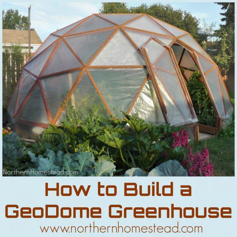 6. DIY Geodome Greenhouse Plans