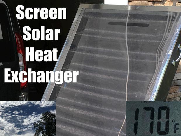 6. DIY Screened Solar Air Heater