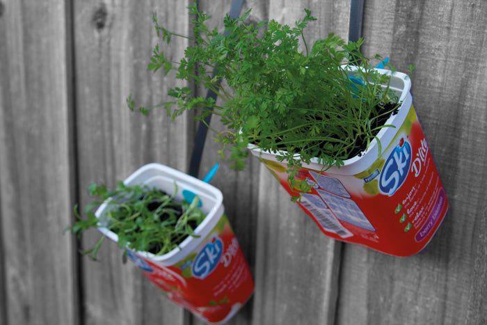 6. Makedo Hanging Herb Garden