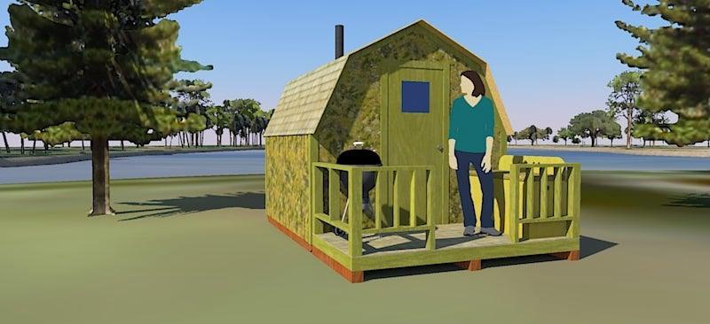 6. Off-Grid Portable Cabin Plans