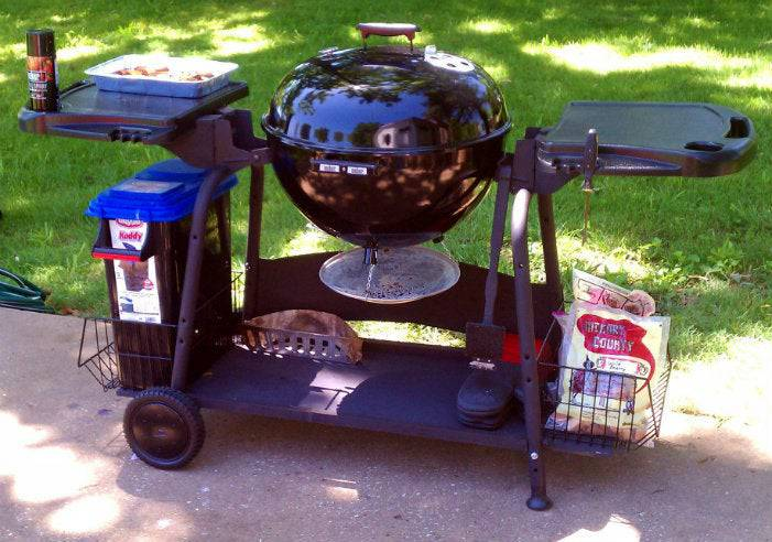 7. DIY Kettle Grill Station
