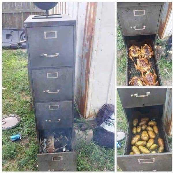 7. File Cabinet Smoker DIY