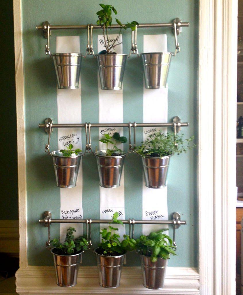 7. Indoor Hanging Herb Garden DIY