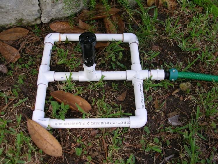 7. Simple Garden Sprinkler System DIY