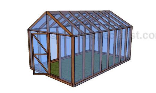 8. DIY Mini Greenhouse Plan