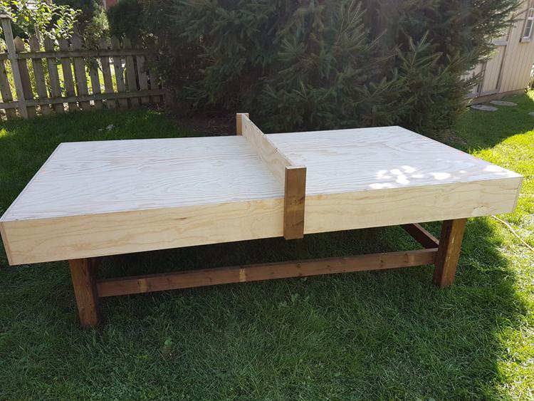 1. DIY Ping Pong Table