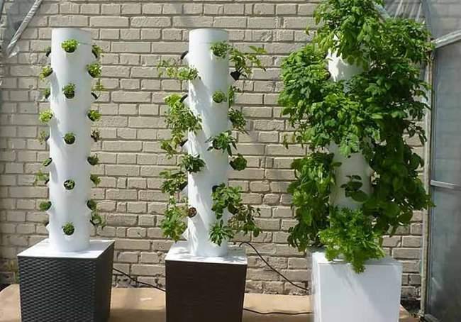 10. DIY Hydroponic Tower Garden