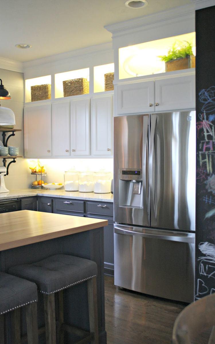 10. DIY Upper And Lower Cabinet Lighting
