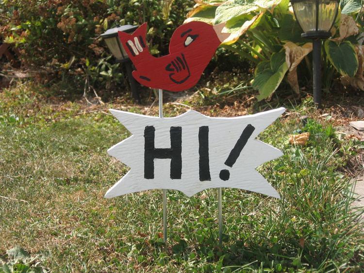 11. DIY Walkway Welcome Sign