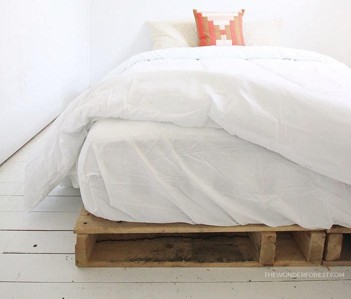 11. DIY Wood Pallet Bed Frame