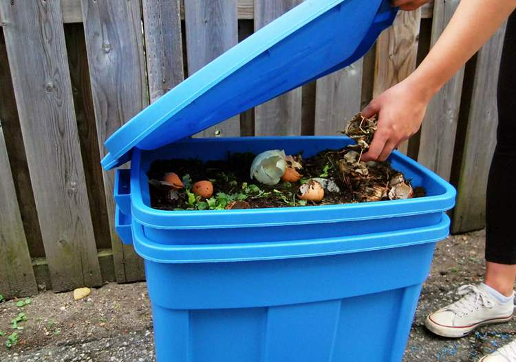 11. How To Make A Compost Bin Using Plastic Container