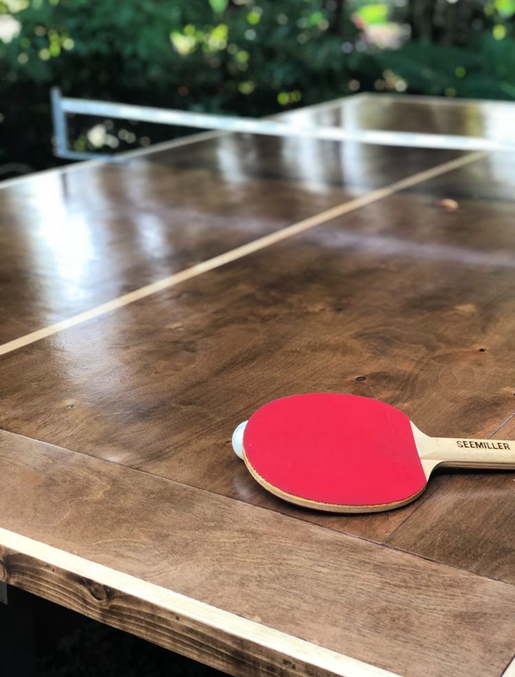 12. DIY Exterior Ping Pong Table