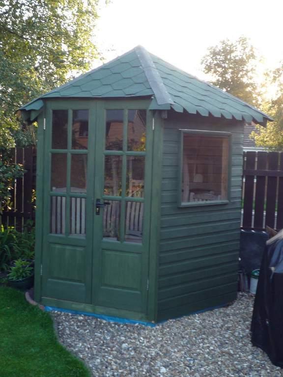 12. DIY Hexagonal Garden Shed