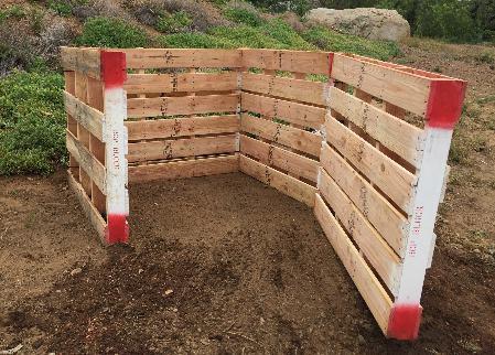 12. DIY Wood Pallet Compost Bin