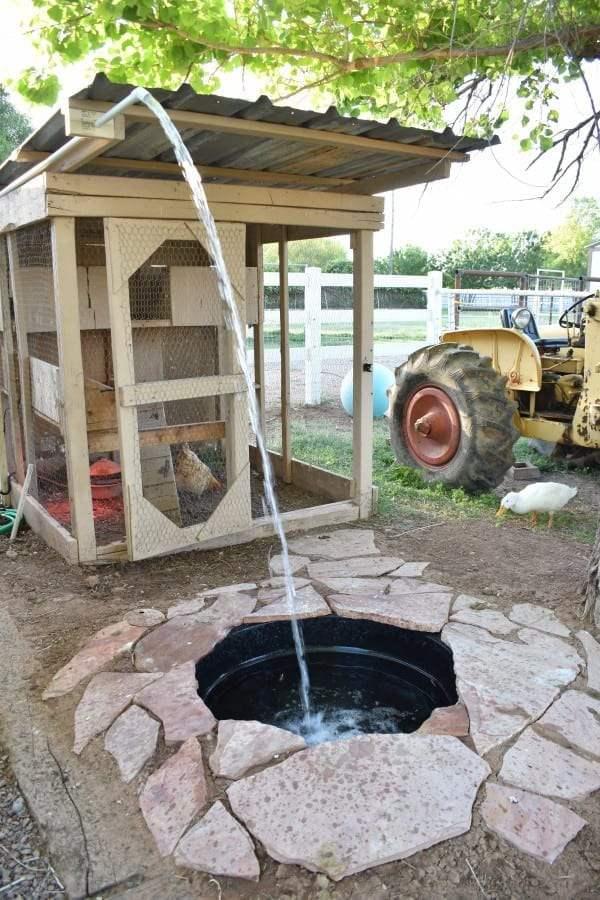 13. DIY Easy Drain Duck Pond