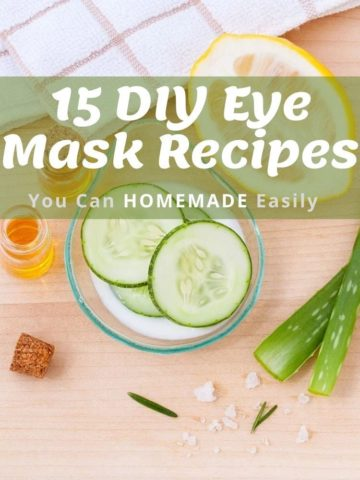 15 DIY Eye Mask Recipes