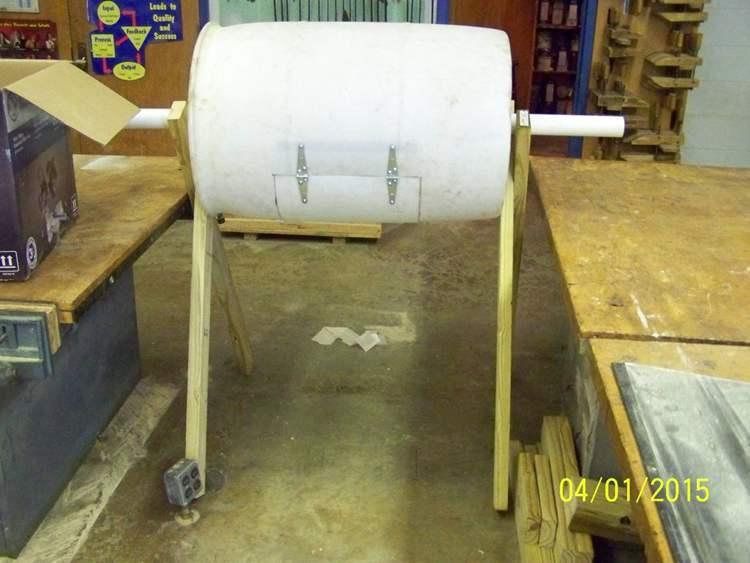 17. DIY Rotating Bin Composter