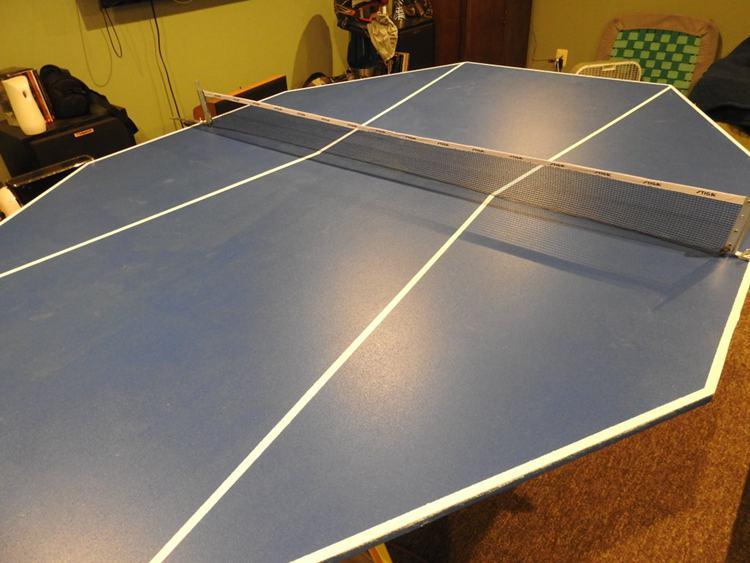 19. DIY 6 Person Ping Pong Table