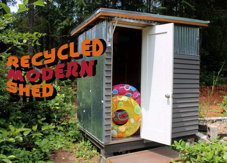 19. Recycled Garden Storage Shed