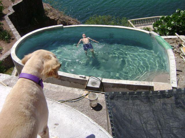 2. DIY Concrete Inground Swimming Pool