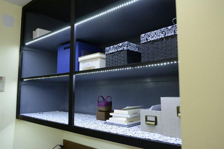 2. DIY Under Cabinet LED Lights