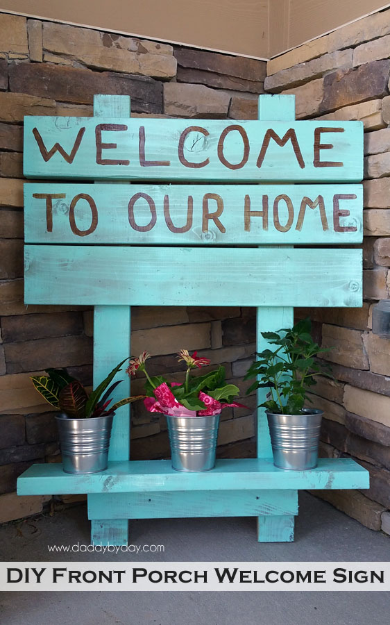 2. DIY Welcome Sign