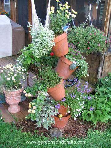 2. Tipsy Pots Tower Planter