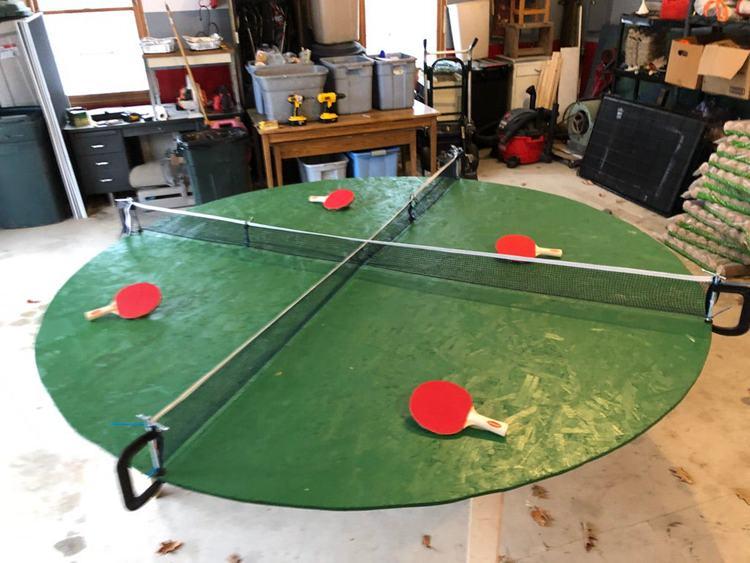20. DIY X-Pong Table