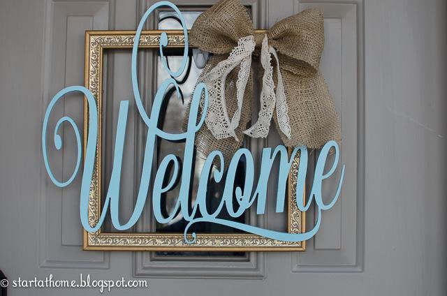 23. DIY Welcome Door Hanger