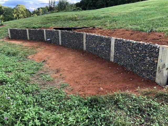 23. Gabion Stone Retaining Wall DIY