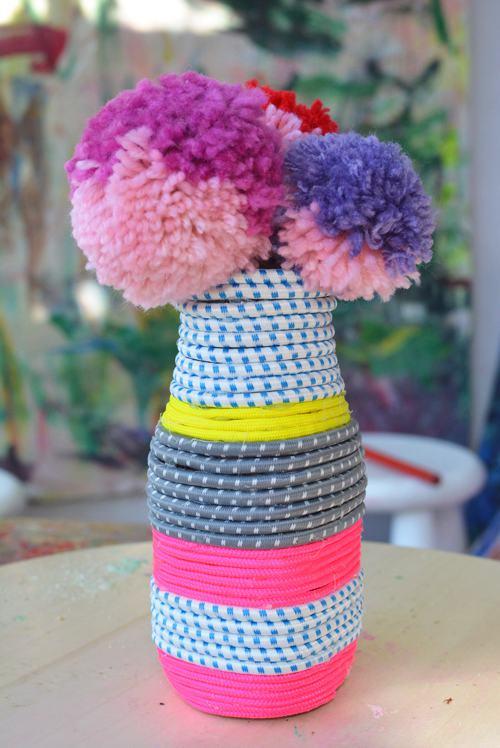 24. DIY Paracord Vase