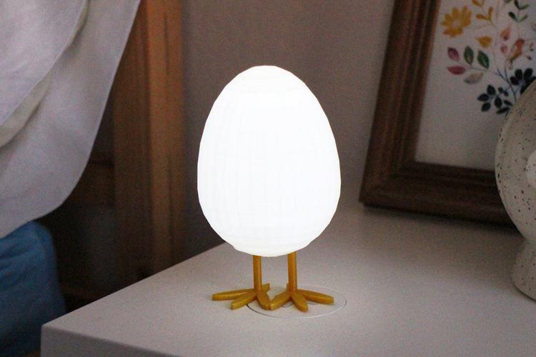 25. DIY LED Egg Night Light