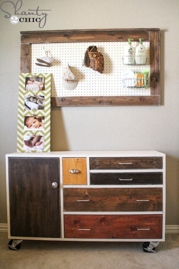 25. DIY Modern Patchwork Dresser