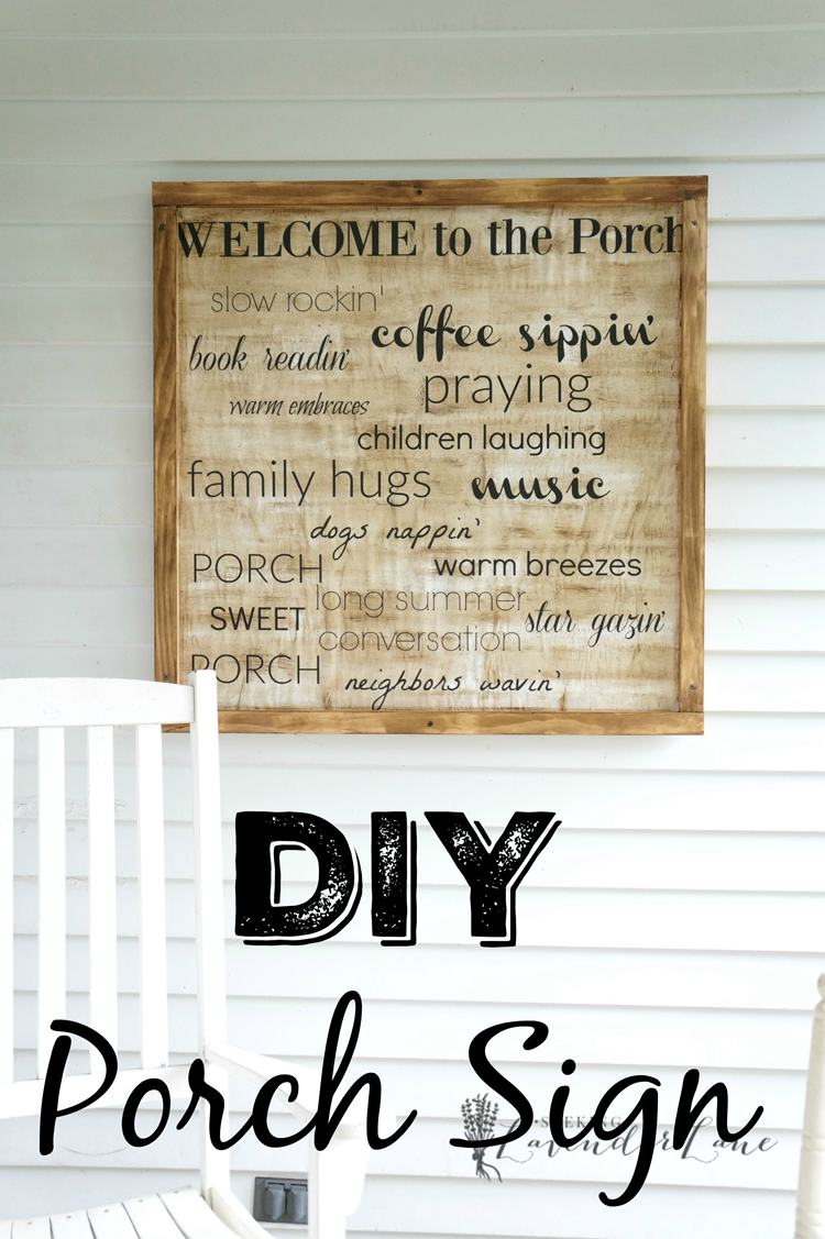 25. DIY Porch Welcome Sign