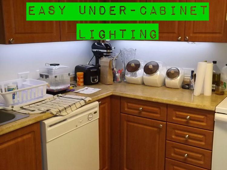 3. Easy DIY Under Cabinet Lighting