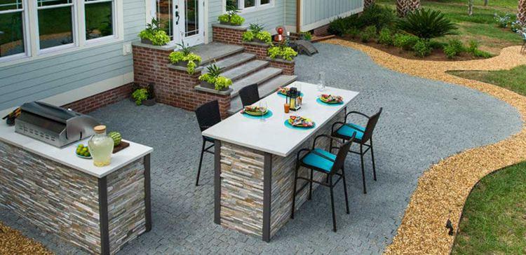 3. Simple DIY Concrete Patios
