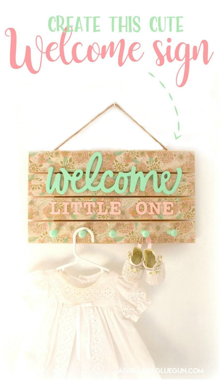 4. DIY Floral Welcome Sign