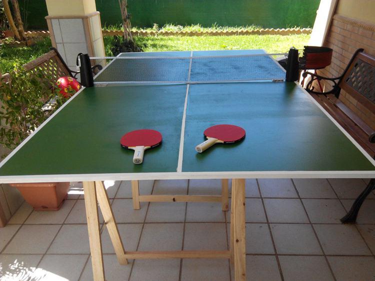 4. DIY Folding Ping Pong Table