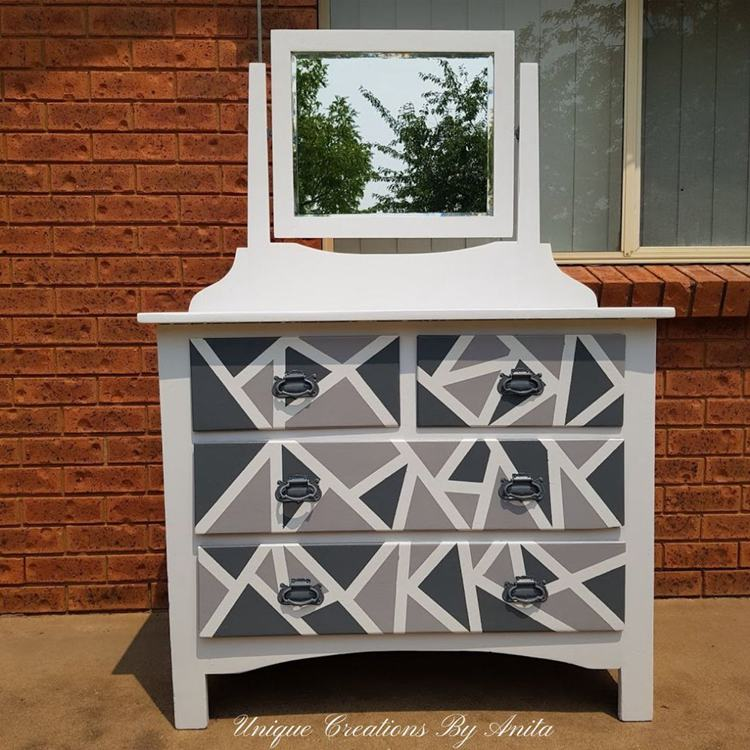 4. DIY Geometric Dresser Makeover
