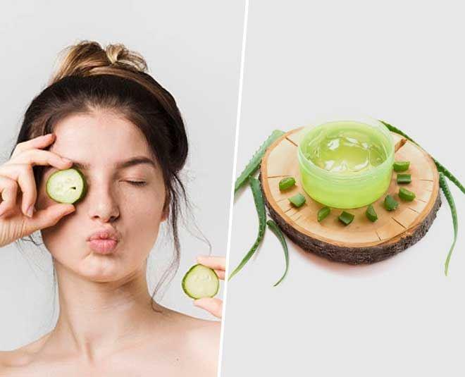 6. Aloe Vera Eye Masks