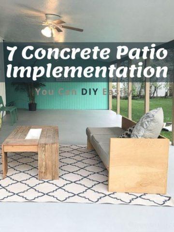 7 DIY Concrete Patio Implementation