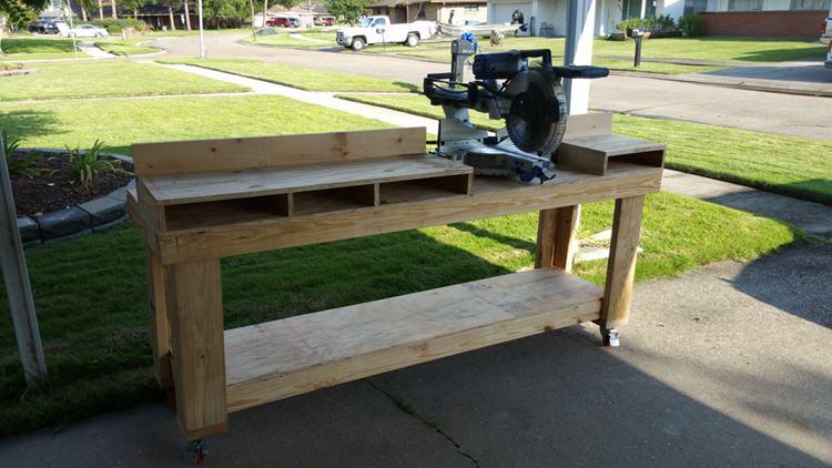 8. DIY Miter Saw Workbench