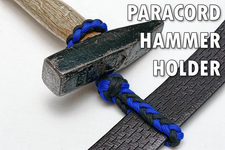 8. DIY Paracord Hammer Holder
