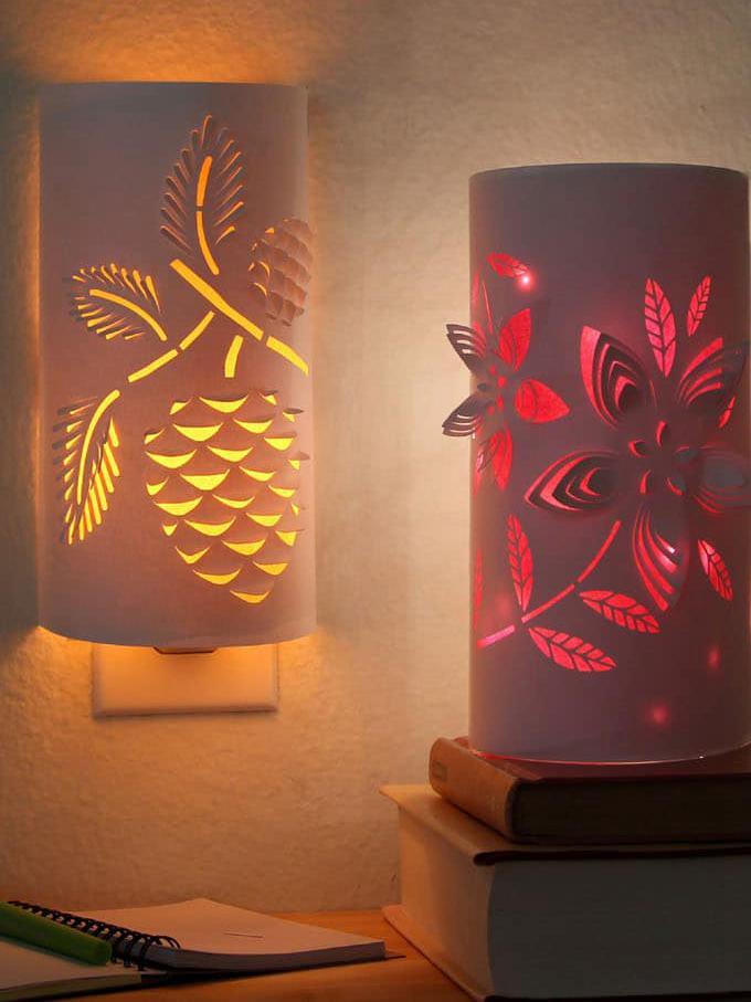 9. DIY Paper Night Light